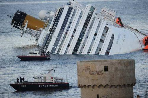"The Costa Concordia, owned by a subsidiary of Miami-based Carnival Corp., struck rocks on Jan. 13, 2012 and flipped on its side, killing 32 people. The ship's captain faces several charges over his actions leading up to the accident and as the ship sunk.<br><b>More: </b><a href=""http://articles.latimes.com/2012/mar/26/news/la-trb-concordia-five-bodies-20120326"" target=""_blank"">Salvage of Costa Concordia may take a year</a>"