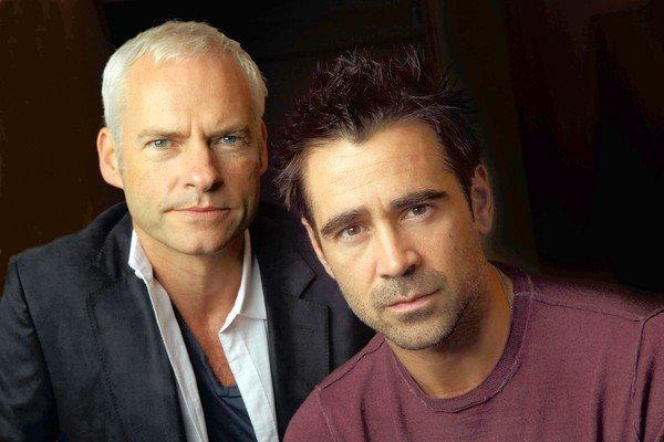 "Writer-director Martin McDonough and actor Colin Farrell worked together in the new move ""Seven Psychopaths."""