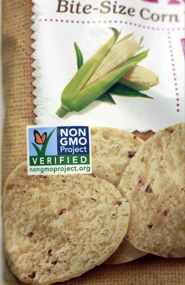 "A product labeled with Non Genetically Modified Organism (GMO) is sold at the Lassens Natural Foods & Vitamins store in Los Feliz. International food and chemical conglomerates are spending millions to defeat California's Proposition 37, which would require labeling on all food made with altered genetic material. It also would prohibit labeling or advertising such food as ""natural."""