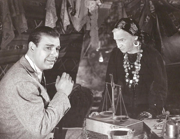 "<em>Maria Ouspenskaya and Lon Chaney Jr. in ""The Wolf Man.""</em>