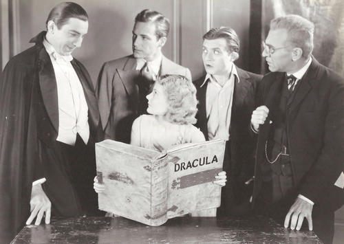 "<em>Bela Lugosi, David Manners, Helen Chandler, Dwight Frye and Edward Van Sloan in ""Dracula.""</em>