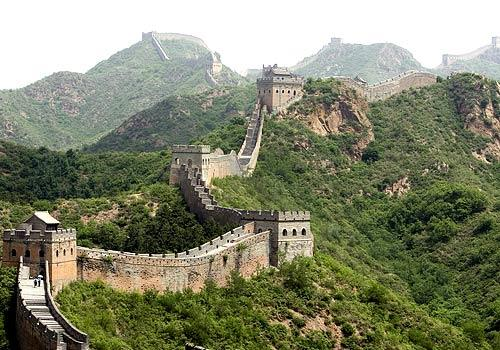 <b>GREAT WALL OF CHINA</b><br>The 4,160-mile barricade in northern China is the longest man-made structure in the world. The fortification, which largely dates from the 7th through the 4th century BC, was built to protect the dynasties from the Huns, Mongols, Turks and other nomadic tribes.