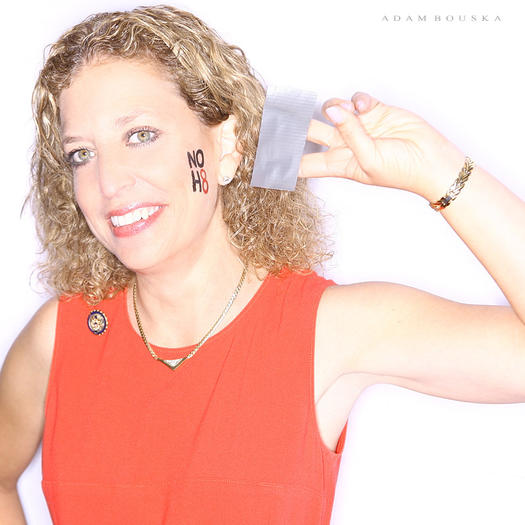 U.S. Rep. Debbie Wasserman Schultz, D-Weston, in her NOH8 picture