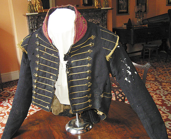 This 200-year-old uniform is part of a show at the Miller House in downtown Hagerstown.The display includes fashions from 1790 to 1930 -- a variety of gowns, dress military uniforms from 1812 to 1898 and some childrens clothing.