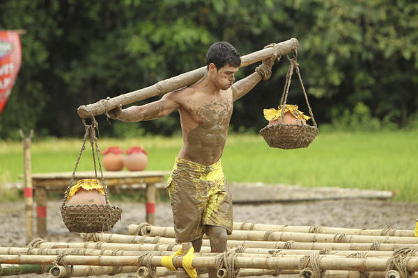 "Peter ""Pete"" Yurkowski of the Tandang Tribe during the Immunity Challenge."