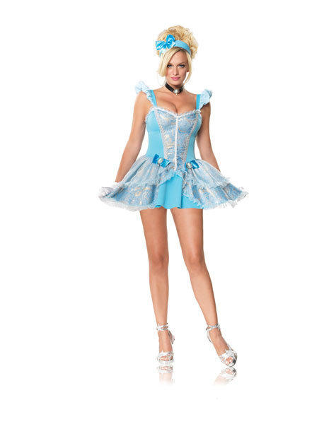 Unnecessarily sexy Halloween costumes: The wardrobe malfunction associated with this outfit wouldnt just be losing a glass slipper.