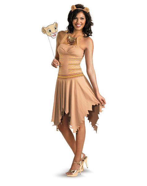 Unnecessarily sexy Halloween costumes: Know we know what Simba of The Lion King saw in her.