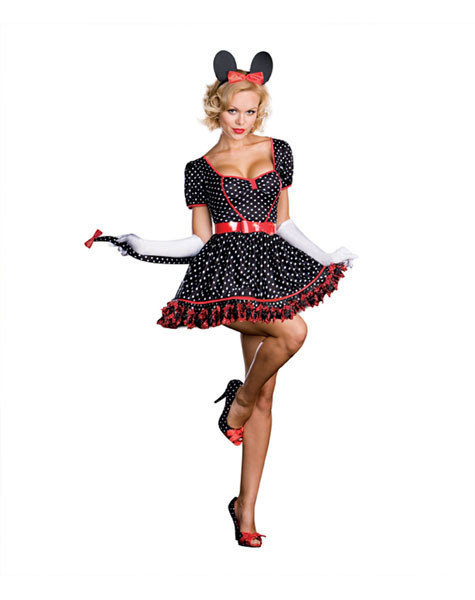 Sexy, adult Halloween costumes - Minnie Mouse