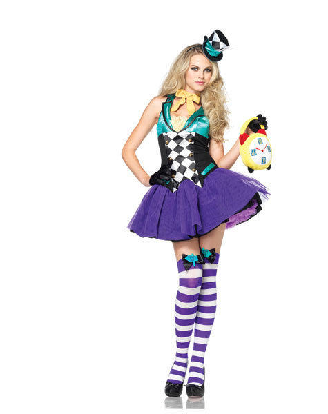 Unnecessarily sexy Halloween costumes: When this Mad Hatter is worried about being late, it has nothing to do with time.