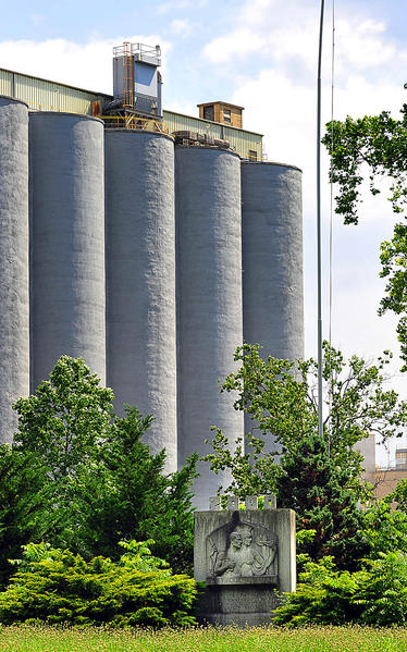 A view of material storage towers at Holcim Inc. in Hagerstown. The U.S. Mine Safety and Health Administration says the management of a cement company is to blame for a fatal accident at the facility in Hagerstown.