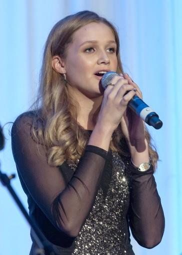 Gracie Van Brunt performs at The Champions of Hope Gala at The Balboa Bay Club & Resort.