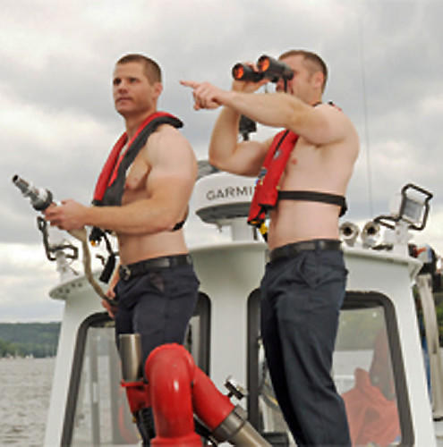 Image from the Middletown firefighter calendar  to benefit MARC: Community Resources.