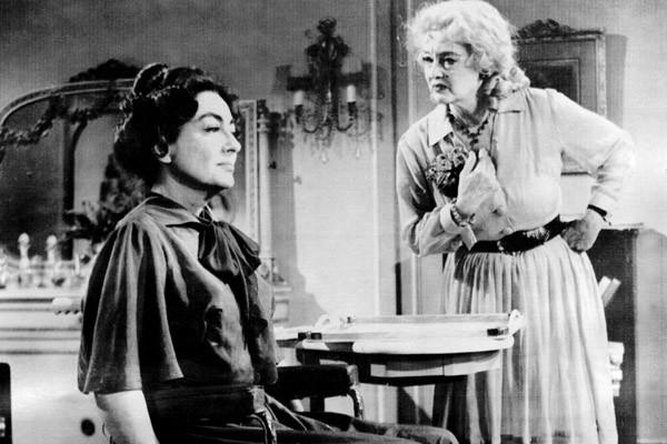 "Joan Crawford, left, and Bette Davis in 1962's ""What Ever Happened to Baby Jane?"""