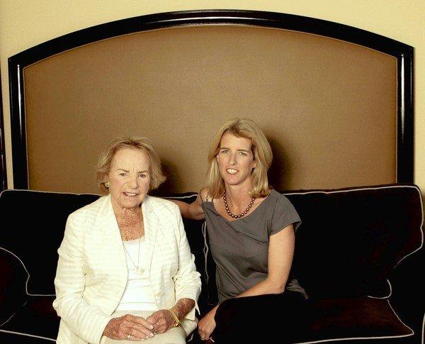 Ethel and Rory Kennedy at the Beverly Hilton in Beverly Hills.