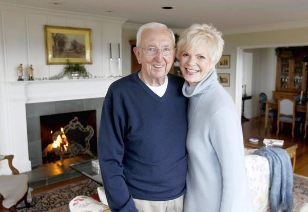 Terry McKenna, left, and Suzanne Caffey-McKenna in their Emerald Bay home.