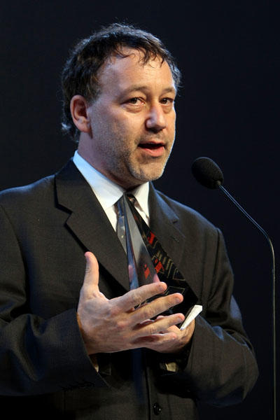 "Director <a class=""taxInlineTagLink"" id=""PECLB003478"" title=""Sam Raimi"" href=""/topic/entertainment/movies/sam-raimi-PECLB003478.topic"">Sam Raimi</a> is 52 today. (Photo by Kristian Dowling/Getty Images)"