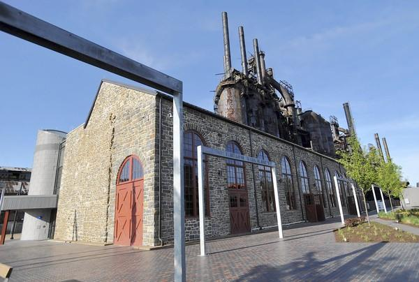 Bethlehem Landing, the new visitor center at SteelStacks, will open in the oldest building at the former Bethlehem Steel plant.