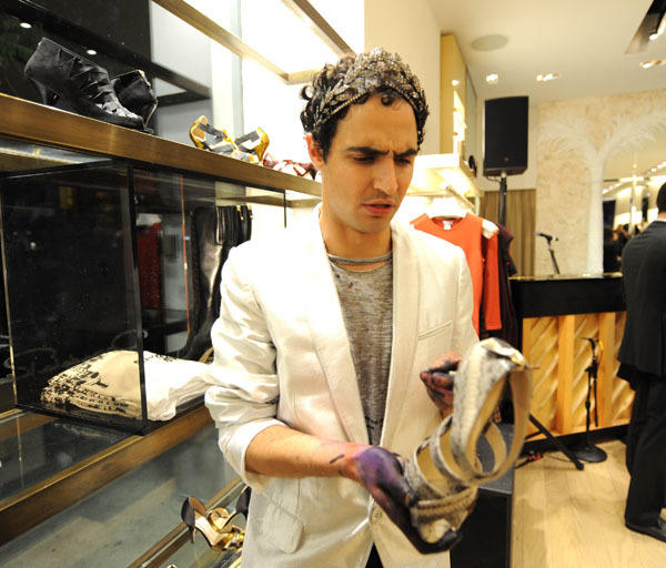 "Fashion designer Zac Posen is 30 today. (Photo by Kevin Mazur/Getty Images for <a class=""taxInlineTagLink"" id=""PEHST002178"" title=""Oscar de la Renta"" href=""/topic/arts-culture/oscar-de-la-renta-PEHST002178.topic"">Oscar de la Renta</a>)"