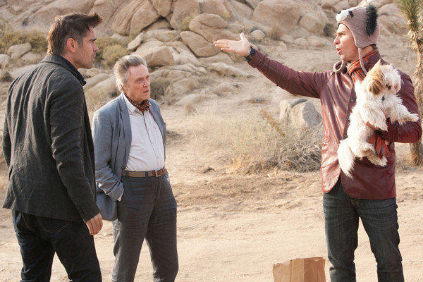 "Colin Farrell, Christopher Walken and Sam Rockwell must deal with the repercussions of stealing a gangster's beloved Shih Tzu in the comedy movie ""Seven Psychopaths."""