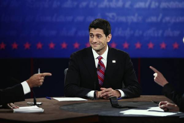 Biden and Ryan face off: U.S. Rep. Paul Ryan (R-WI) listens during the vice presidential debate