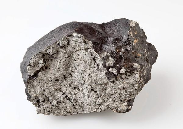 The so-called Tissint meteorite is named after a Moroccan village where pieces landed. This 1.1-kilogram fragment is now at the Natural History Museum in London.