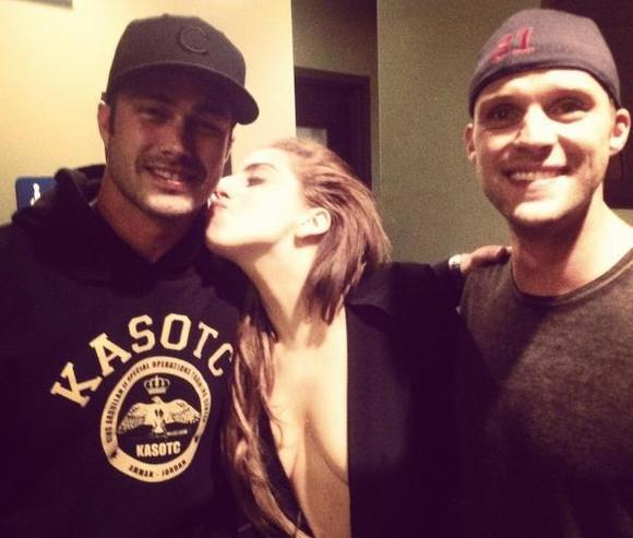 Taylor Kinney, Lady Gaga and Jesse Spencer