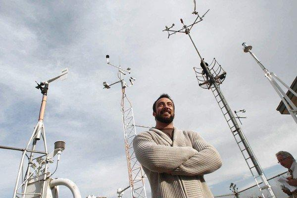 Steve Woodruff, a former Pierce College meteorology student and now the weather office manager at Van Nuys Airport, installed the weather station's new equipment. He said it's impossible to know what sort of data will be important in the future to the study of global warming.