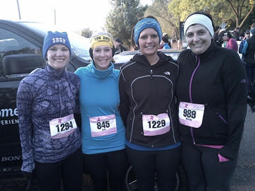 Four Aberdeen-area women took part in the eighth annual Athleta Iron Girl Women's Duathlon on Sept. 23 in Bloomington, Minn. From left are: Heather Jordan, Erin Schroeder, Stephanie Johnson and Wendy Johnson.