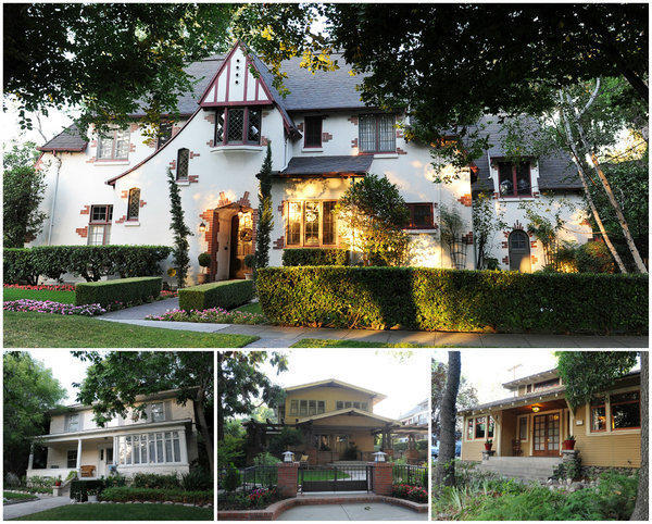 Four of the six homes representing a range of styles and eras that will be open Sunday for the Claremont Heritage home tour.