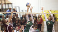 The Roncalli volleyball team took another step toward a share of the Northeast Conference volleyball title Thursday night in Aberdeen.