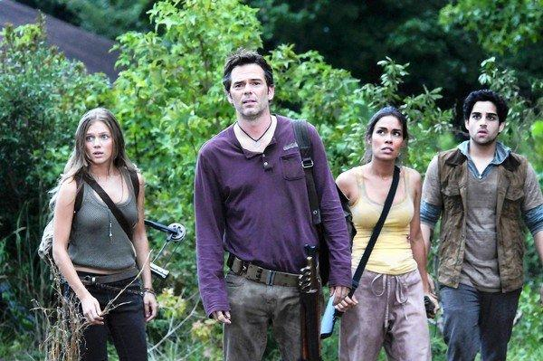 """Revolution,"" with Tracy Spiridakos, left, Billy Burke, Daniella Alonso and Paras Patel, is showing promise among the fall TV season's new series."
