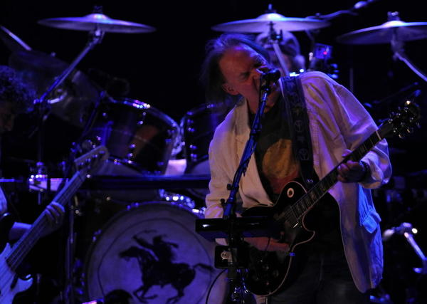Neil Young and Crazy Horse play at the United Center Thursday.