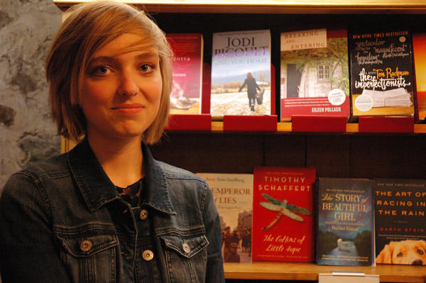 "Kate Liska, 16, of Harbor Springs began her novel, ""Meet Me at the Water,"" when she was just 15."