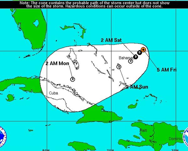 Tropical Storm Patty isn't expected to be long-lived, potentially degenerating into a tropical depression by Friday afternoon.