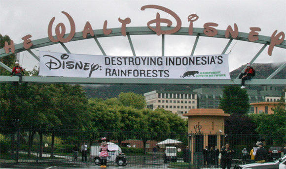 Walt Disney Co. has adopted a new responsible paper use policy after protests last year.