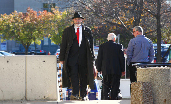 Joel Brodsky, the lawyer who led Drew Peterson's defense team and has represented Peterson since 2007, arrives at the Will County Courthouse in Joliet today for a hearing on the status of Peterson's defense team. Naperville attorney John Paul Carroll says he has been hired by Peterson to handle the appeal of his first-degree murder conviction.