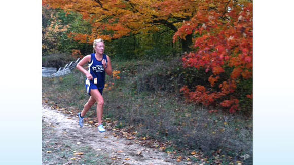St. Mary senior Christina Smith earned a Ski Valley Conference championship Wednesday at Central Lake with a time of 21:29. It was a fruitful day for Otsego County runners, as the Johanesburg-Lewiston girls placed first as a team.
