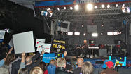 "If you weren't VIP enough to get inside the Norton Center to watch the debate in person or credentialed enough hang out with the media and pols in Spin Alley, the only place to be Thursday night for news and political junkies was in front of the MSNBC stage watching Chris Matthews play ""Hardball."""