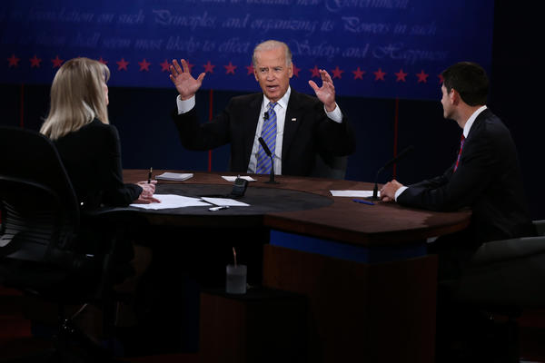 A loud Joe Biden at Thursday night's debate.