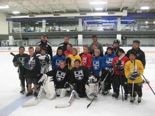 Some youth hockey players in El Segundo got a special treat on Thursday -- a special tutoring session with Matt Greene and Rob Scuderi of the Kings and Ryan Miller of the Buffalo Sabres.
