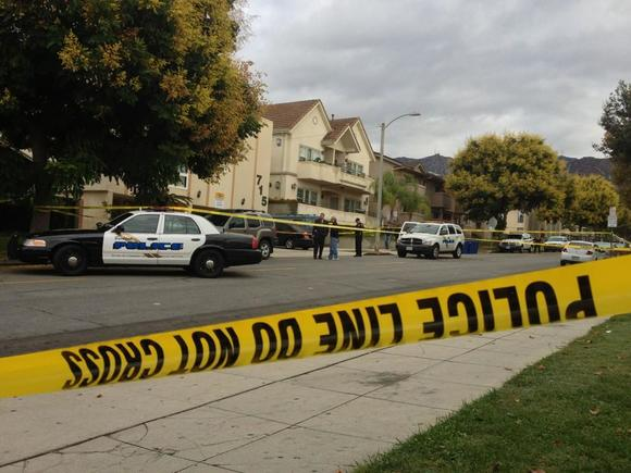 Burbank police investigate the shooting on Providencia Avenue that left one man dead Thursday night.