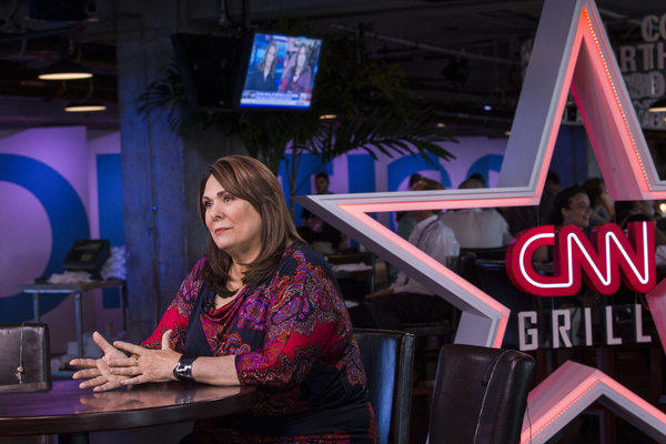 Candy Crowley in the CNN Grill during the 2012 Republican National Convention in Tampa, Fl.