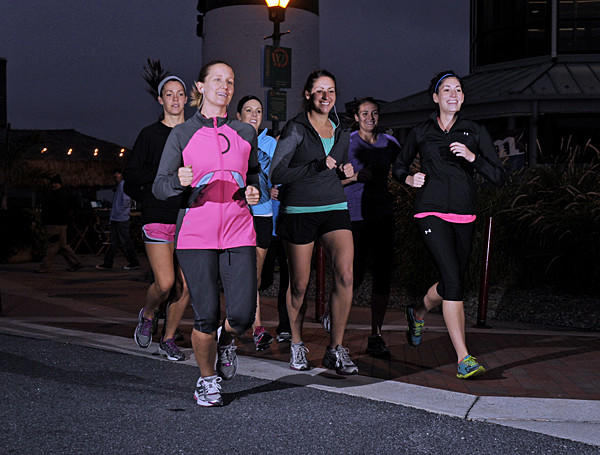 The Canton Club running team train for the half marathon at the upcoming Baltimore Running Festival.