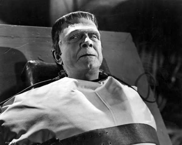 "Bela Lugosi as the Frankenstein monster in ""Frankenstein Meets the Wolf Man."" The movie screens Oct. 27 at the Alex Theatre."