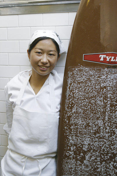 Kuniko Yagi, in the kitchen at Sona, will be chef of Hinoki and the Bird in Century City.