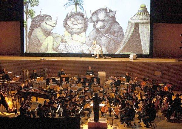 "Susan Bickley is the mezzo-soprano voice of Tzippy (female Wild Thing) as Los Angeles Philharmonic conductor Gustavo Dudamel conducts Olive Knussen's ""Where the Wild Things Are"" at Walt Disney Concert Hall."