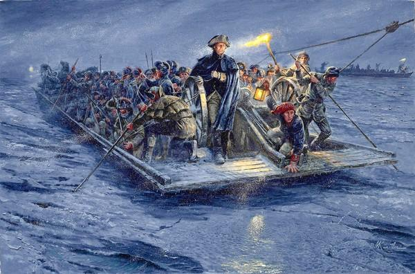 The Lehigh County Heritage Museum will display artist Mort Kunstler's painting of Washignton crossing the Delaware. It's a more factually accurate rendering of the event than the famous, romanticized painting by Emanuel Leutze.