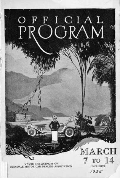 In 1925, the Glendale Motor Car Dealers Association held their first car show. In 1967, the car dealers teamed up with National Charity League to present the first of several car shows at the new Glendale Fashion Center.