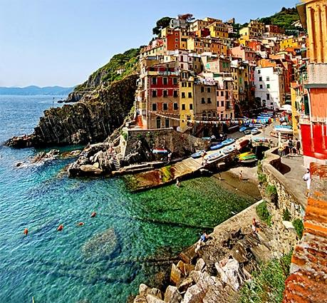 Riomaggiore, one of the five fishing villages of Cinque Terre on Italy's northwestern coast.