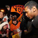 O's fans welcome home team